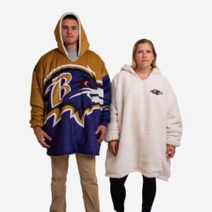 Baltimore Ravens Reversible Colorblock Hoodeez
