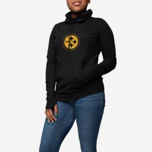 Pittsburgh Steelers Womens Cowl Neck Sweater - L