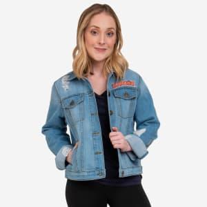 Clemson Tigers Womens Denim Days Jacket - L