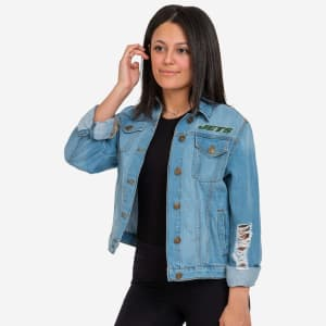 New York Jets Womens Denim Days Jacket - L