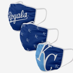Kansas City Royals 3 Pack Face Cover - Youth