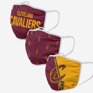 Cleveland Cavaliers 3 Pack Face Cover - Youth