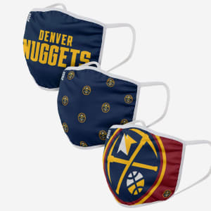 Denver Nuggets 3 Pack Face Cover - Adult
