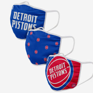 Detroit Pistons 3 Pack Face Cover - Youth