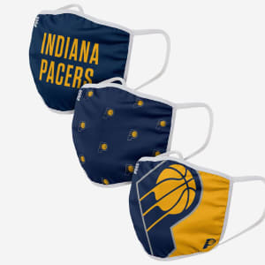 Indiana Pacers 3 Pack Face Cover - Adult