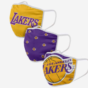 Los Angeles Lakers 3 Pack Face Cover - Adult