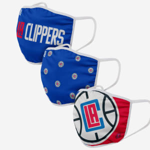 Los Angeles Clippers 3 Pack Face Cover - Youth