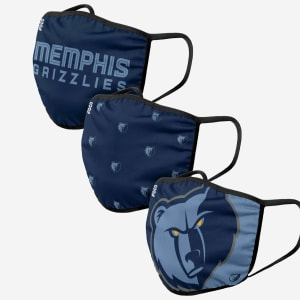 Memphis Grizzlies 3 Pack Face Cover - Youth
