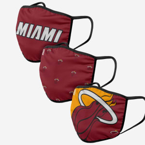 Miami Heat 3 Pack Face Cover - Adult