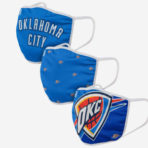 Oklahoma City Thunder 3 Pack Face Cover - Adult