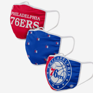 Philadelphia 76ers 3 Pack Face Cover - Youth