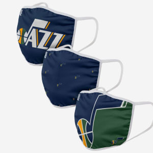 Utah Jazz 3 Pack Face Cover - Adult
