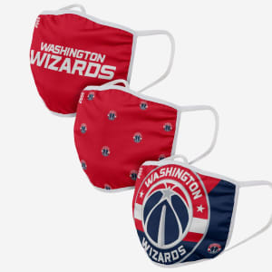 Washington Wizards 3 Pack Face Cover - Youth
