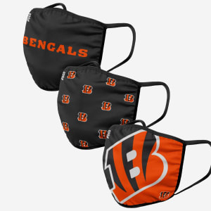 Cincinnati Bengals 3 Pack Face Cover - Youth