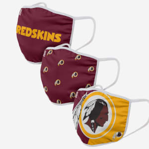 Washington Redskins 3 Pack Face Cover - Youth