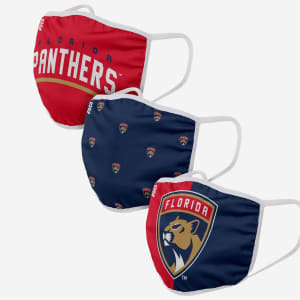 Florida Panthers 3 Pack Face Cover - Youth