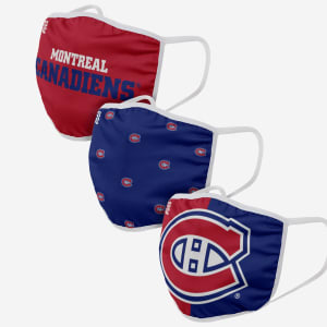 Montreal Canadiens 3 Pack Face Cover - Youth
