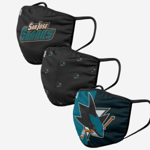San Jose Sharks 3 Pack Face Cover - Adult