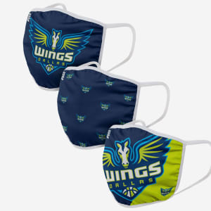 Dallas Wings 3 Pack Face Cover