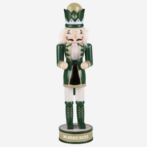 Milwaukee Bucks Team Spirit Nutcracker