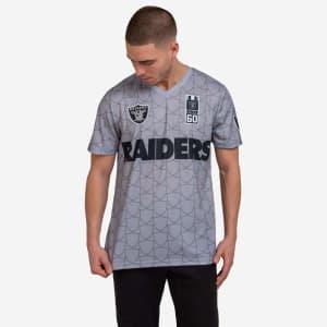 Las Vegas Raiders Short Sleeve Soccer Style Jersey