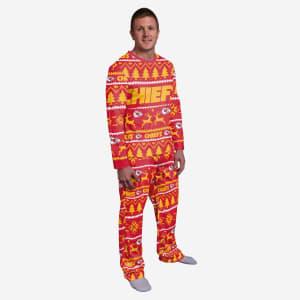 Kansas City Chiefs Family Holiday Pajamas - S
