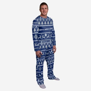 Toronto Maple Leafs Family Holiday Pajamas - M