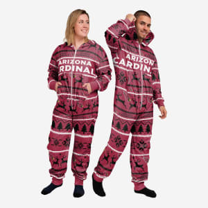 Arizona Cardinals Holiday One Piece Pajamas