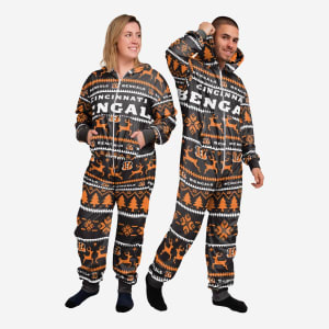 Cincinnati Bengals Holiday One Piece Pajamas - 3XL