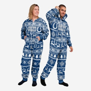 Indianapolis Colts Holiday One Piece Pajamas - 2XL
