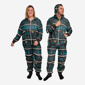 Jacksonville Jaguars Holiday One Piece Pajamas - M