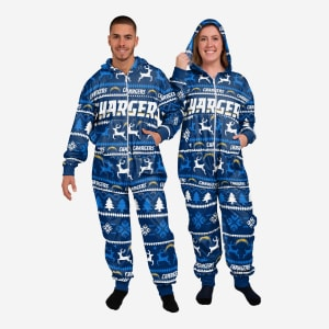Los Angeles Chargers Holiday One Piece Pajamas - 2XL