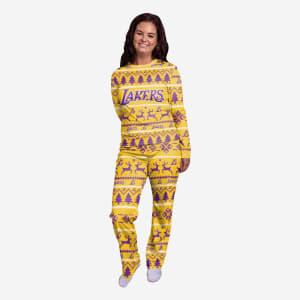 Los Angeles Lakers Womens Family Holiday Pajamas - S