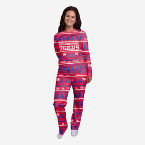 Philadelphia 76ers Womens Family Holiday Pajamas - XL