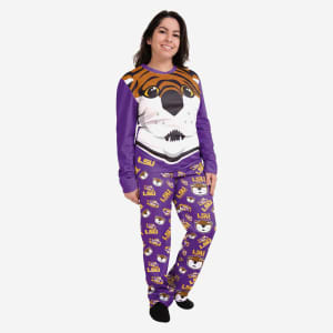 Mike the Tiger LSU Tigers Womens Mascot Pajamas - S