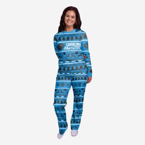 Carolina Panthers Womens Family Holiday Pajamas - M