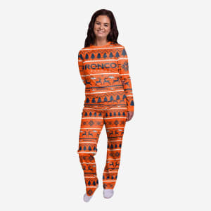 Denver Broncos Womens Family Holiday Pajamas - XL