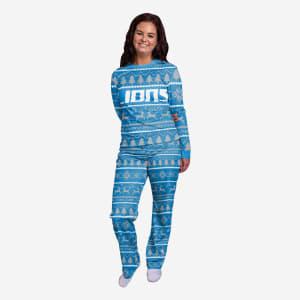Detroit Lions Womens Family Holiday Pajamas - XL