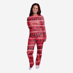 Calgary Flames Womens Family Holiday Pajamas - L