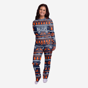 Edmonton Oilers Womens Family Holiday Pajamas - XL