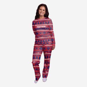 Montreal Canadiens Womens Family Holiday Pajamas - M