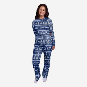 Toronto Maple Leafs Womens Family Holiday Pajamas - XL