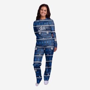 Winnipeg Jets Womens Family Holiday Pajamas - L