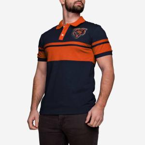 Chicago Bears Cotton Stripe Polo - L