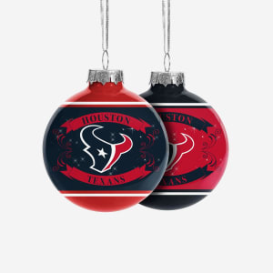 Houston Texans 2 Pack Ball Ornament Set