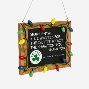 Boston Celtics Resin Chalkboard Sign Ornament