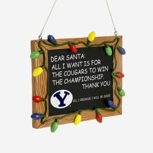 BYU Cougars Resin Chalkboard Sign Ornament
