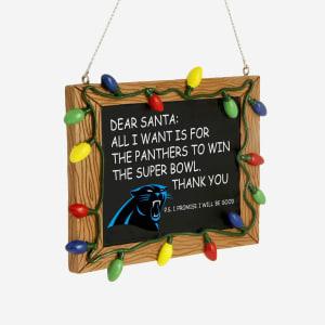 Carolina Panthers Resin Chalkboard Sign Ornament