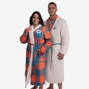 Miami Dolphins Lounge Life Reversible Robe - L/XL