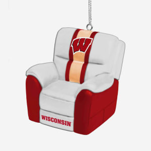 Wisconsin Badgers Reclining Chair Ornament